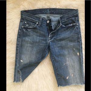 ✨7 For All Mankind Paint-Splatter Shorts Sz 27✨